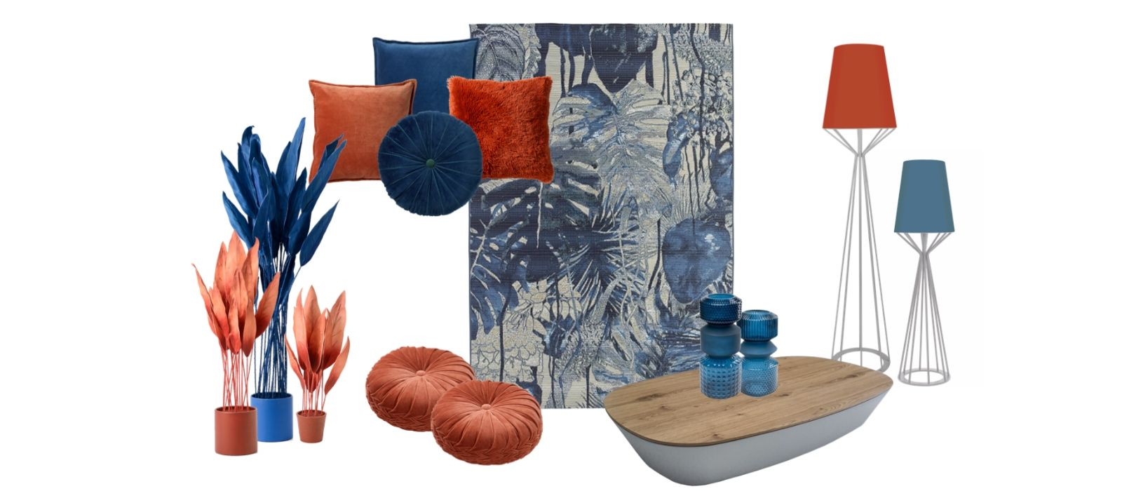 Accessoires - ambiance tropical navy blue